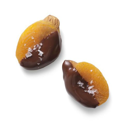 almond stuffed apricots dipped in chocolate