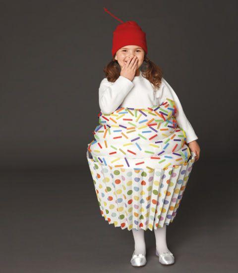DIY Halloween Cupcake Costume  sc 1 st  Womanu0027s Day & DIY Cupcake Halloween Costume for Kids - How to Make a Cupcake Costume