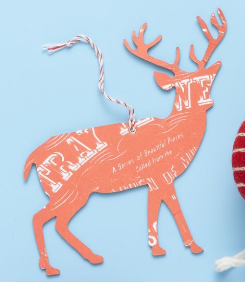 red raindeer ornament