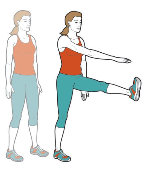 woman doing a leg excercise