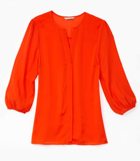 red blouse from H&M