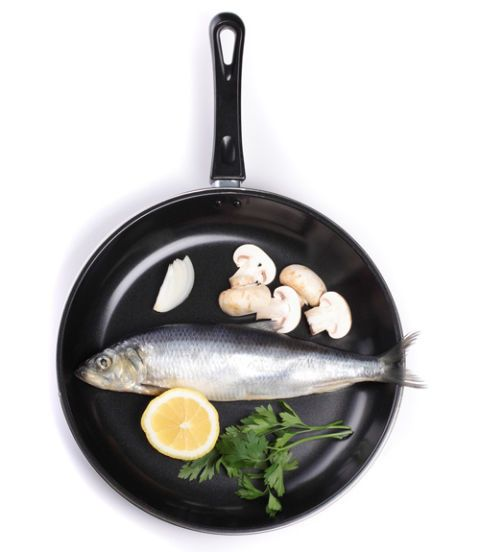 fish in a pan