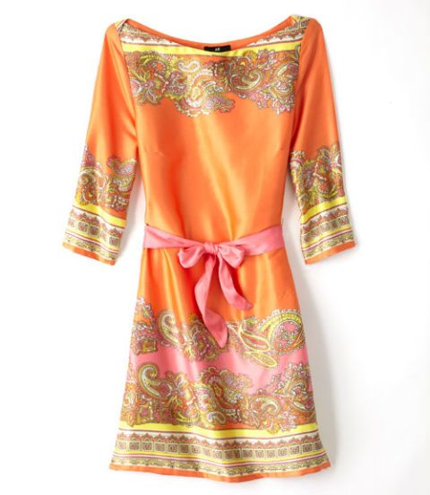 orange paisley tunic