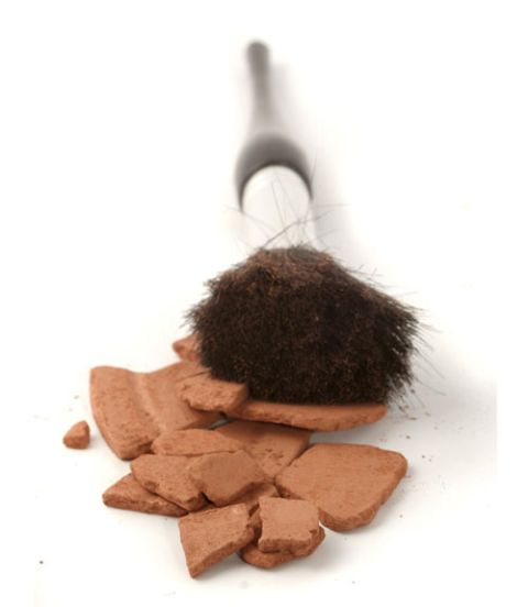 bronzer and powder brush