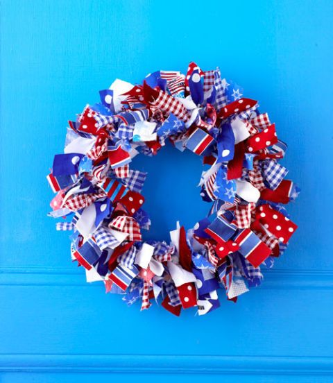 Fabric-Wrapped Wreath