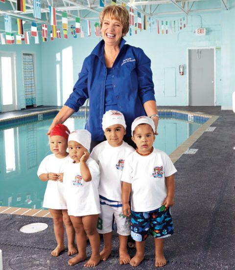 rita goldberg with swim students