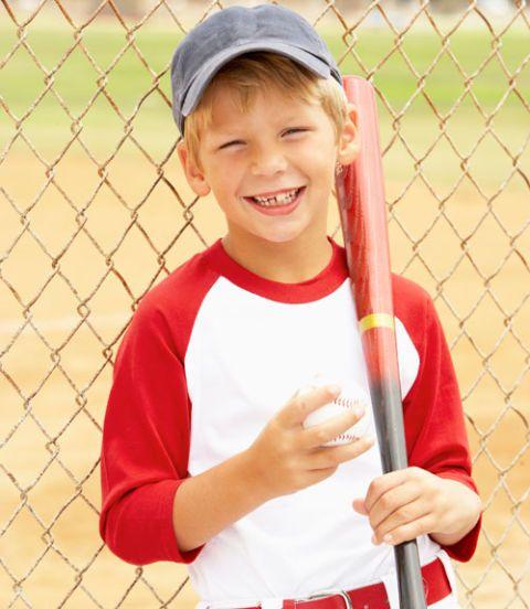 child in a sports uniform