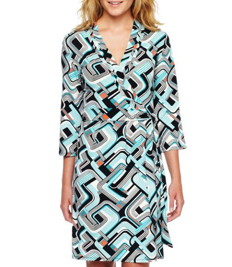 Liz Claiborne Faux Wrap Dress