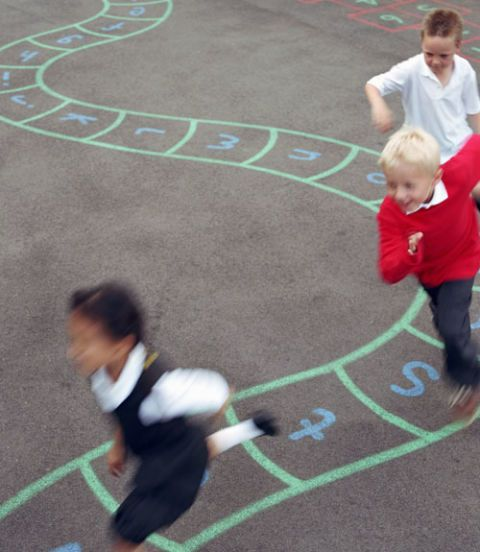 children playing recess