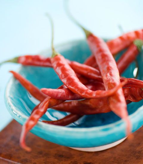 chili peppers in a bowl
