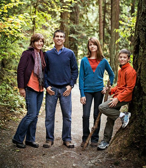 Carol Frazey and family