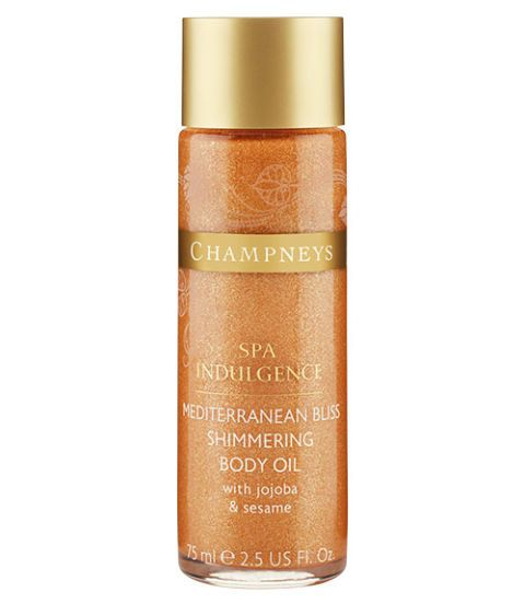 champneys spa indulgence shimmering body oil