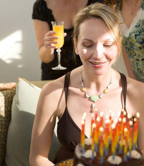woman's birthday celebration