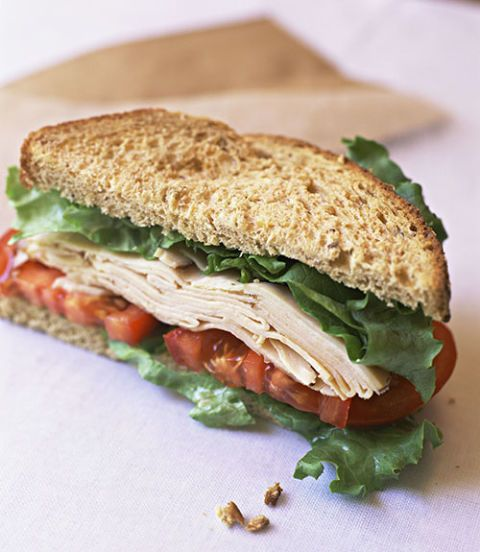 turkey whole grain sandwich