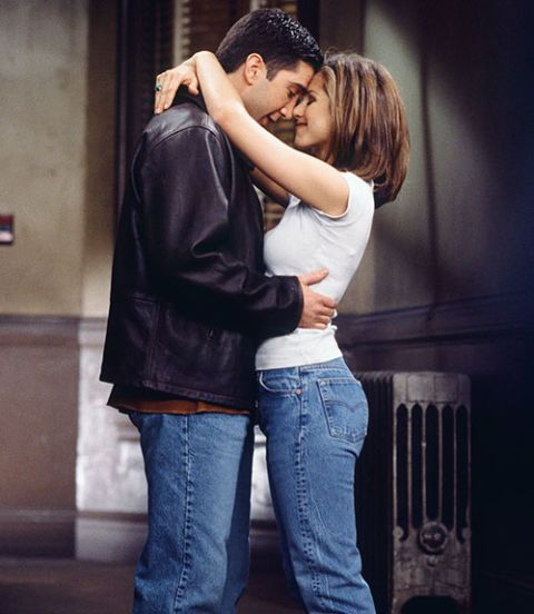 on screen romance between ross and rachel