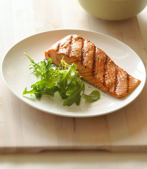 plate of salmon