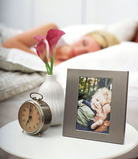photograph on the nightstand