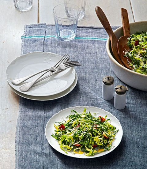 collard and brussels sprout salad