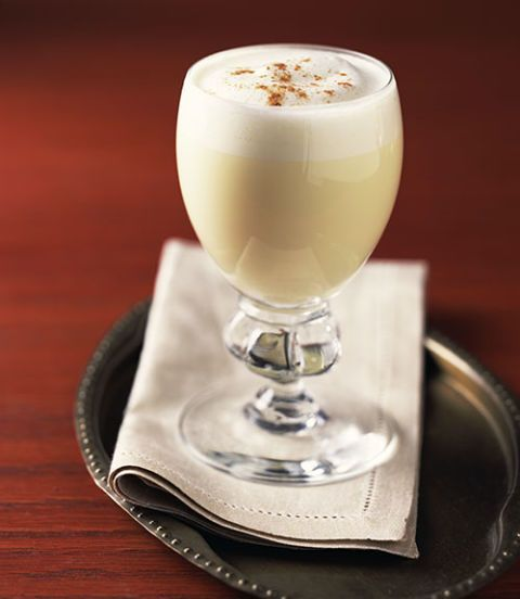 glass of eggnog