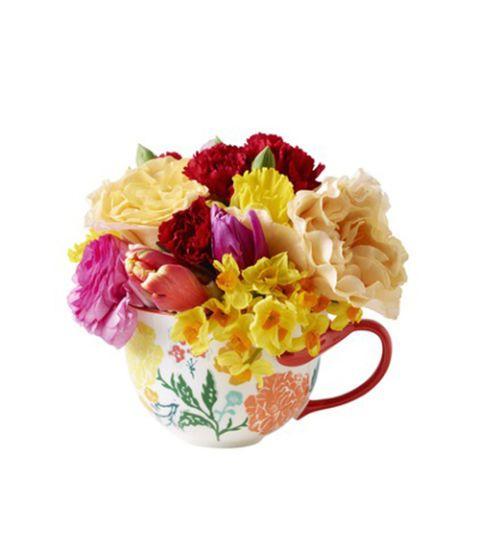 teacup bouquet