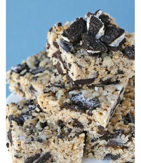 2. Cookies and Cream Rice Krispies Treats