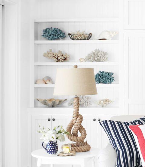 nautical white living room