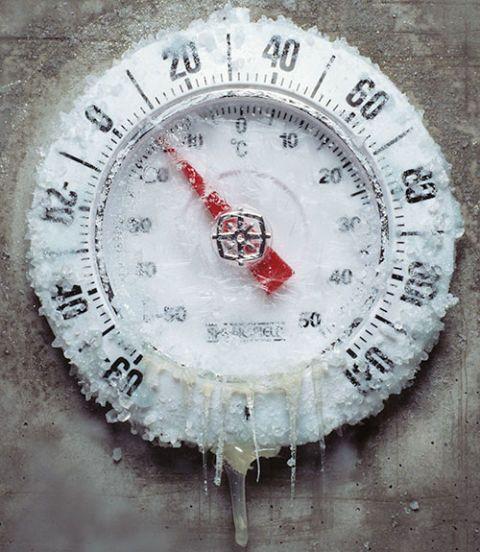 frozen termometer