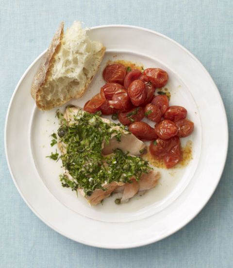 Herb-Roasted Salmon and Tomatoes