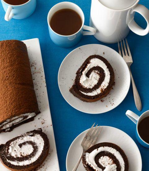 Cream-Filled Chocolate Cake Roll