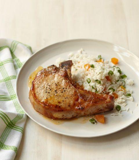 Pork Chops with Apricot Rice