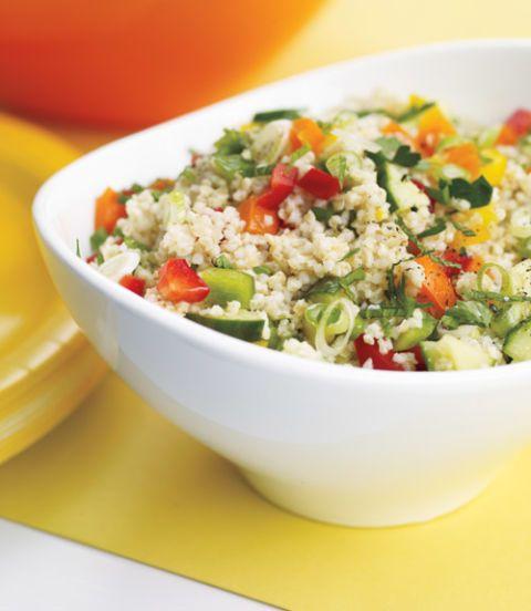 Bulgur, Bell Pepper, and Cucumber Salad