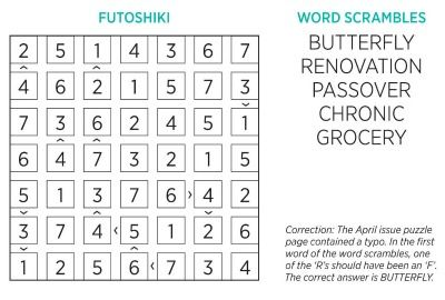 Woman's Day Puzzle Answers at WomansDay com