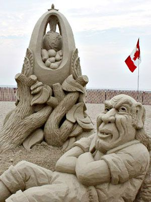 Photos Of Sand Sculptures From Us Compeions At Womansday