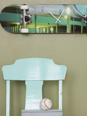 How To Make A Skateboard Wall Clock At Womansday Com Diy