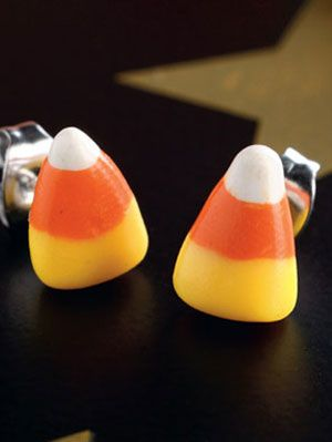 c92c1631a Candy Corn Earrings Craft - Homemade Halloween Craft at WomansDay.com