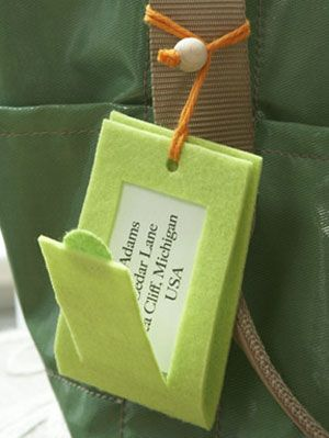 make your own luggage tags at womansday com crafts with felt