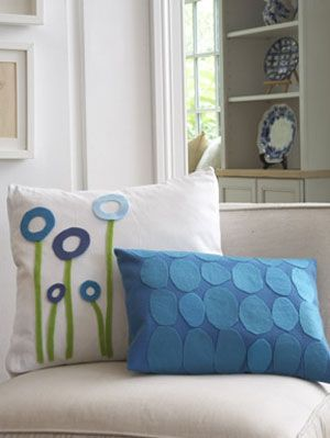personalize throw pillows at womansday - crafts projects for felt Unique Sofa Pillows