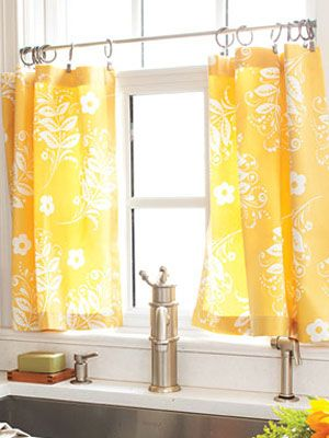 How To Make Kitchen Curtains Diy Cafe