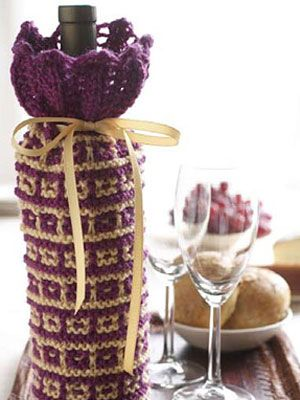 Gifts For Wine Lovers Easy Knitting Patterns At Womansday