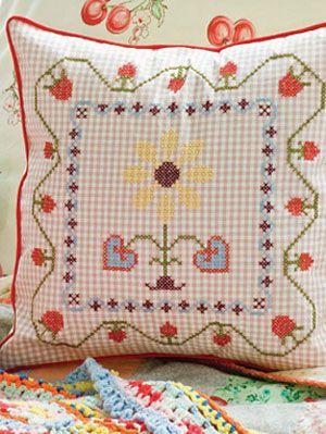 free embroidery designs - diy decorative throw pillow at womansday Diy Pillow Decor