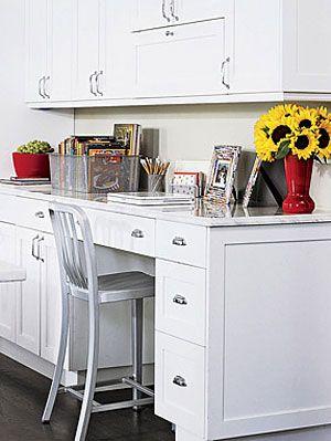 Ideas for Kitchen Desks - Kitchen Desk Work Station Tips at ...