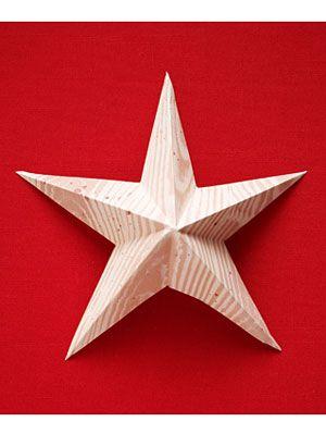 Star ornament craft how to make a christmas star ornament for Christmas star craft ideas