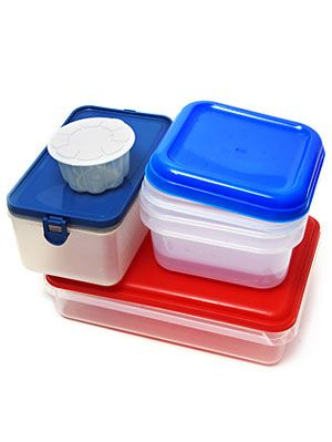 Plastic Food Containers Organization and Recycling at Womans Day