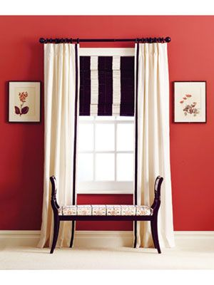 Decor How-to: Painted Bamboo Blinds