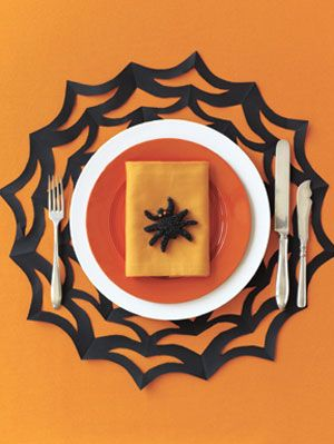 halloween spiderweb placemat craft halloween napkin rings how to
