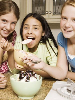 kids enjoying ice cream social