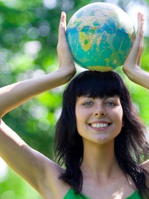 earth-conscious woman