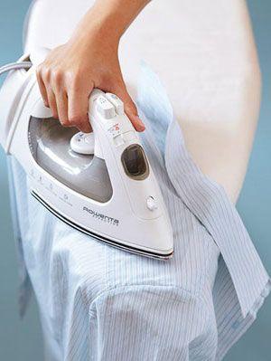iron a buttondown