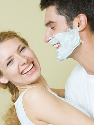 man and woman and their beauty regimen