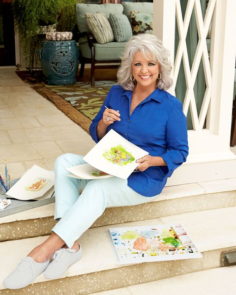 paula deen with her drawings